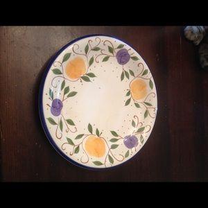Vintage Plate. Living Art. Summer Fruit.